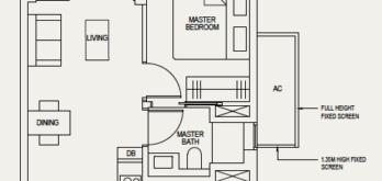 the-avenir-floor-plan-1-bedroom-1a-singapore